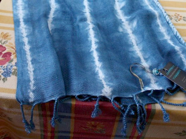 Blue Shibori Scarf