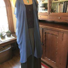 Blue Silk Chiffon Vest