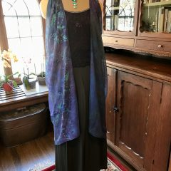 Purple Silk Chiffon Vest
