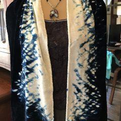 Silk Velvet Shibori Scarf
